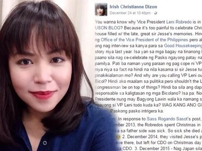 Fearless netizen defends VP Leni from Mocha Uson by pointing out latter's bias