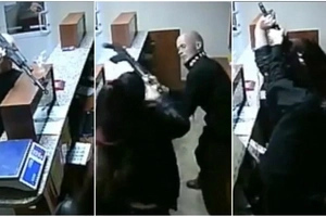 Brave woman attacks thug with AK-47 in stunningly epic fight