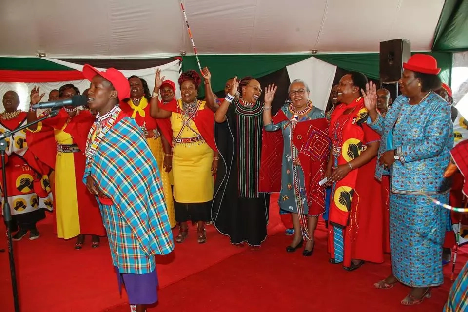 Margaret Kenyatta akiwa kaunti ya Kajiado