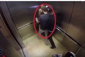 Guy insisted to kiss a girl he just met in the elevator. Check out what happened.