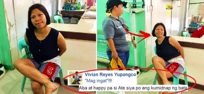 This creepy Pinay was arrested for kidnapping a child in Taytay. Her crazy behavior after getting arrested will shock you!