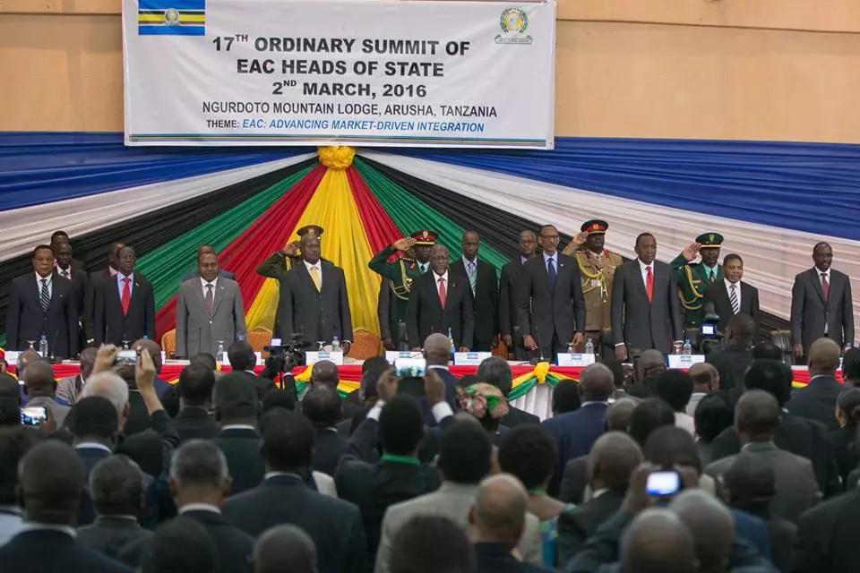 See Uhuru in Tanzania with EAC leaders