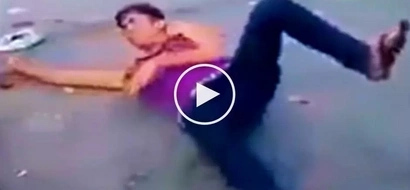 Drunken Pinoy teen suffers painful accident while setting off dangerous firecracker
