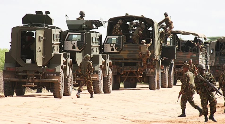 Al-Shabaab militants destroy KDF vehicles