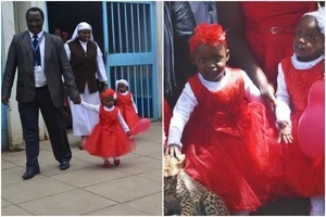 Perfect Valentine: Joy as successfully separated TWINS leave Kenyatta National Hospital for the first time (photos)