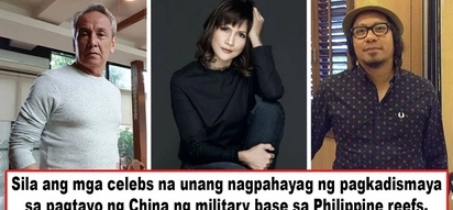Umalma na mga celebs! Reports about completed air and naval bases in PH reefs elicited angry reactions from celebs