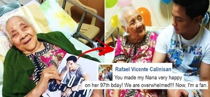 A netizen asked Alden Richards on FB to attend his sick grandmother's 97th birthday celebration at a hospital. What happened next will make you cry!