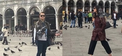 LizQuen reunite in Italy