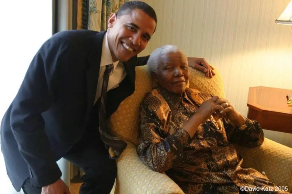 Nelson Mandela and Barack Obama were first black Presidents of their countries - see when they met