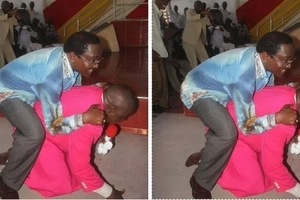Pastor REVEALS why he let Kalonzo ride him like a donkey in church