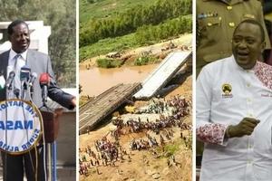Mr President, take responsibility for the collapse of the KSh 1.2 billion bridge -Raila Odinga
