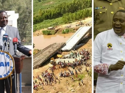 Mr President, take responsibility for the collapse of the KSh 1.2 billion bridge -Raila Odinga