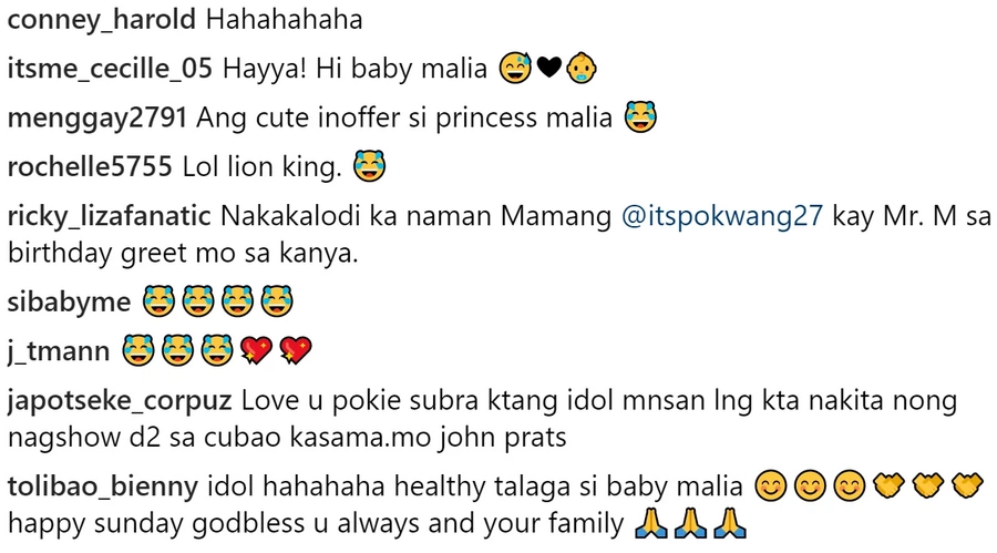"Inalay si Baby Malia! Pokwang's birthday greetings to Mr. Johnny Manahan elicited laughter from ""The Lion King"" fanatics"