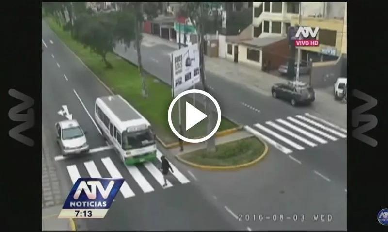 ¡Terrible accidente! Una colombiana fue atropellada por un bus en Perú