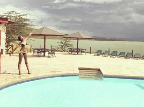 Kiss FM's Adelle Onyango shows off her trim body in a two-piece bikini