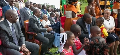 Uhuru's latest photos with kids once again show how much he likes children