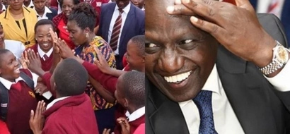 William Ruto's wife steps out in school uniform and you won't believe how she looks like (photos)