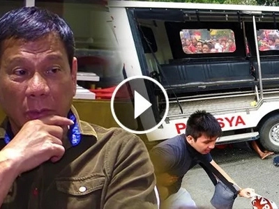 Wala siyang kasalanan! Duterte says police who ran over protesters had NO INTENTION to kill