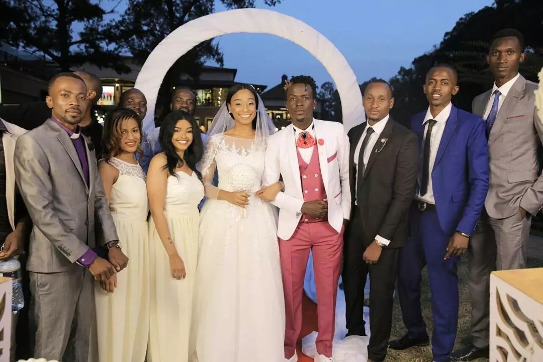 After their 'wedding' Willy Paul takes Jamican singer Alaine to Bishop Kiuna's church
