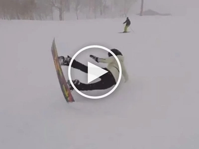 Try and try lang! Anne Curtis funnily falls several times before learning snowboarding