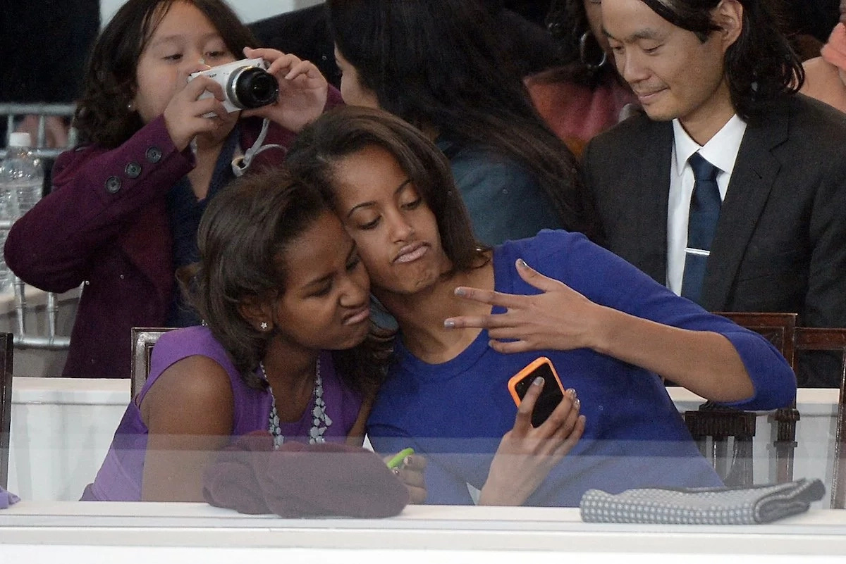 Malia and Sasha are on the lookout for fun at every opportunity