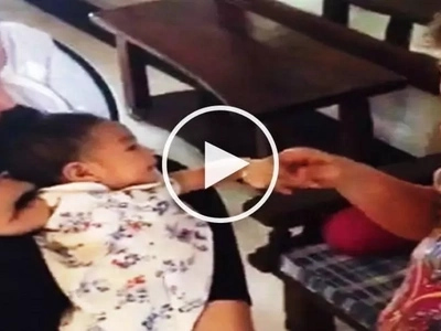Watch Mariel Rodriguez introduce cute baby Isabella to Robin Padilla's excited mom Eva