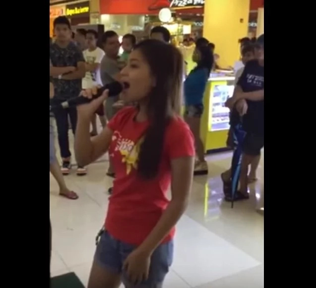 Video featuring talented Pinay singing 'Chandelier' in public went viral