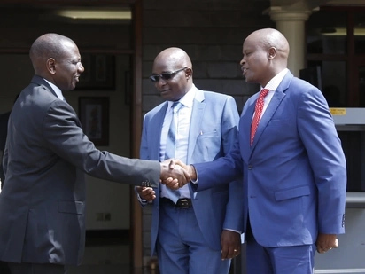 Kanini Kega leads Nyeri elected leaders to Ruto's Karen home