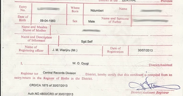 Birth certificate kenya application and replacement of the birth certificate kenya application and replacement of the crucial document tuko yelopaper Choice Image