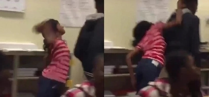 Crazy Woman Attacks A Guy With A Brick Right In The Classroom