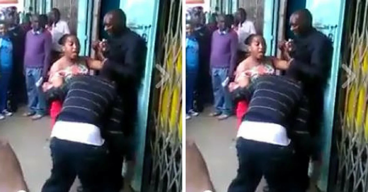 Watch this dramatic footage of an angry woman beating up two grown men (video)