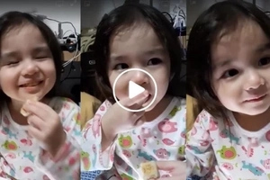 """Baby Maxim Dandan munching """"hopiang monggo"""" in this viral video is the cutest little girl we've ever seen!"""