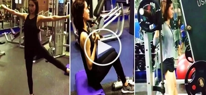 Exercise na may hugot: Erich Gonzales' epic workout videos will make you want to go to the gym ASAP!