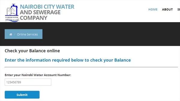 online water bill inquiry