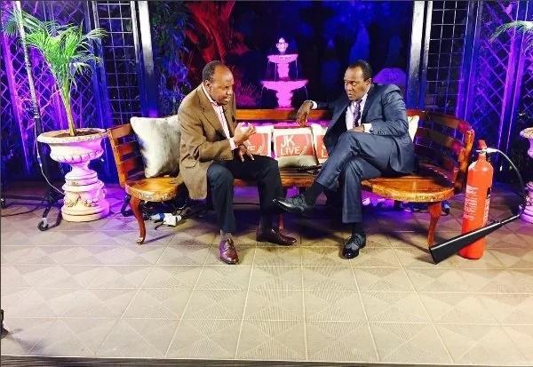 Uhuru watches and enjoys mys show - Jeff Koinange