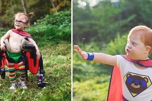 ¡Adorable! Mamá transforma niños con necesidades especiales en superheroes
