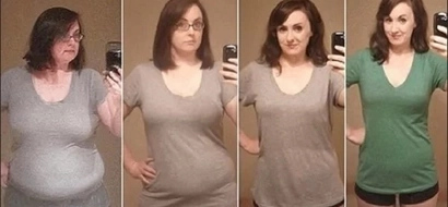 Mujer rebajó 40 kilos en un año con estos 3 simples cambios