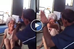 Napakasalbaheng tao! Violent Malaysian caretaker brutally abuses helpless grandma