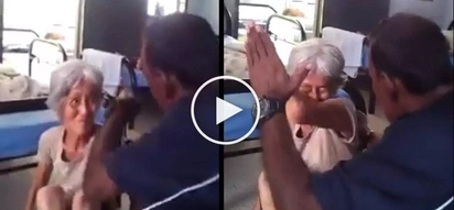 Napakasalbaheng tao! Violent Malaysian caretaker brutally abuses helpless grandma