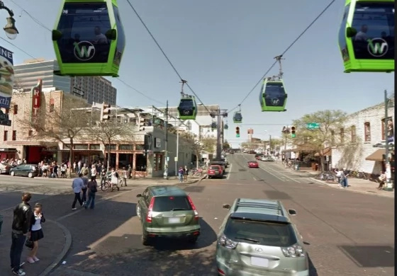 Cable cars to solve traffic problems