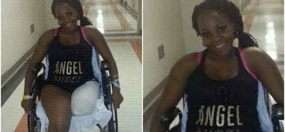 Read this heartbreaking message shared by the lady who lost her legs in a terrible accident (photo)