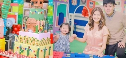 Beauty queen Shamcey Supsup's baby daughter turns 1 with a Pinoy fiesta-themed party!