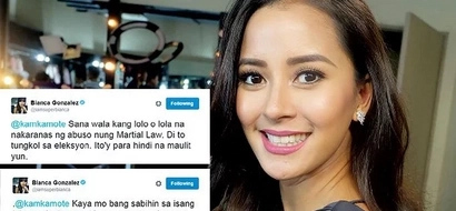 Twitter Wars: Bianca Gonzalez vs. martial law fans on Twitter. Read their heated exchange here.