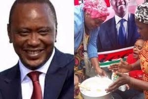 DRAMA as Kenyans cook UGALI outside President Uhuru Kenyatta's office