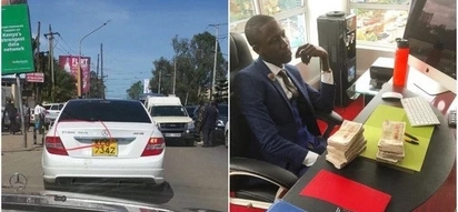 Meet the flamboyant Luo man who stunned Kenyans with his customized Mercedes Benz ,complete with his name