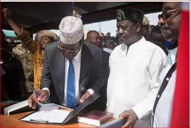 Ignore the cowards - Miguna rubbishes claims that Raila tricked NASA principals ahead of swearing-in
