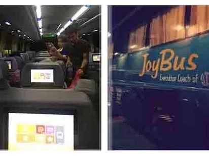 Para kang nasa eroplano! Genesis Transport Inc. newest line of buses has airplane-style of entertainment on board