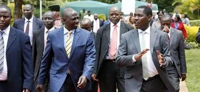 Gavana wa Jubilee ATIMULIWA jukwaani kwa kumtaja Ruto