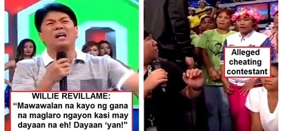 May dayaan na! Willie Revillame confronts contestant on 'Wowowin' for allegedly cheating during the '1,2,3 Go' game on Wowowin!