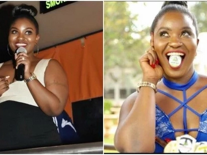 Voluptuous Nairobi Diaries actress shows off 99% of her skin in sheer see-through dress and it is hot AF